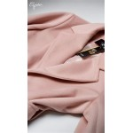 Púdrovoružový tehotenský kabát ELODIE