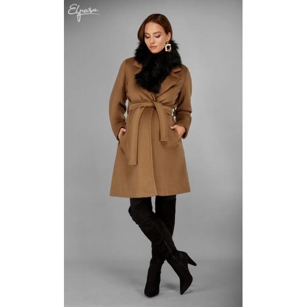 Hnedý tehotenský kabát AGNES