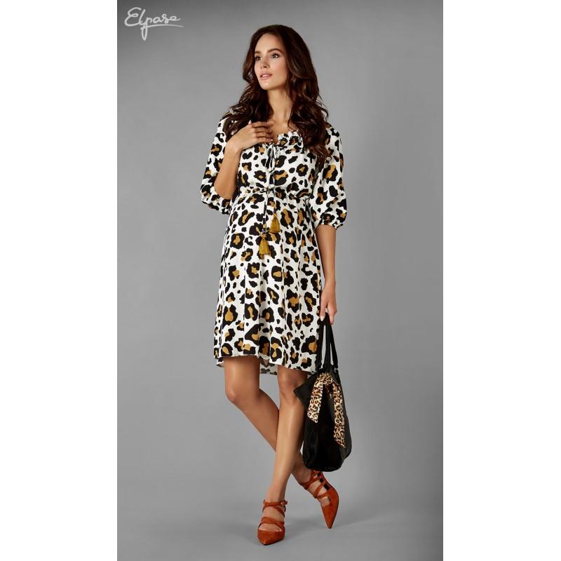 af64cb671 Štýlové tehotenské šaty s leopardím vzorom BLAKE 2135