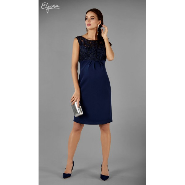 Elegantné púzdrové tehotenské šaty GRACIANNA 2139
