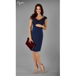 ba478ae15b443 Elegantné púzdrové tehotenské šaty OLENA 2133