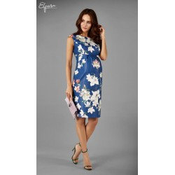 ca35f0b13b292 Elegantné púzdrové tehotenské šaty JANET 2144