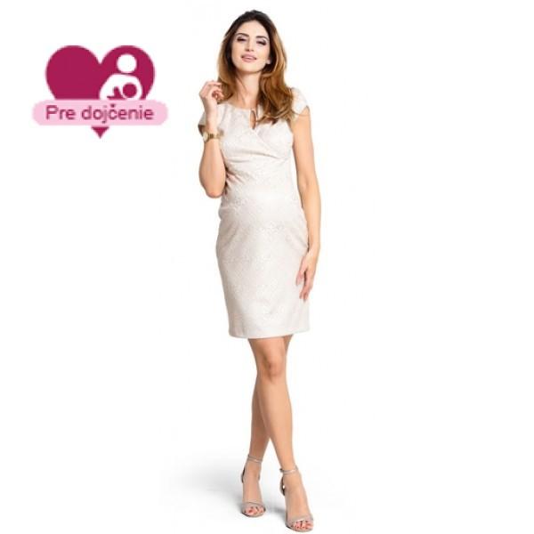 Tehotenské šaty Impression beige - d829a