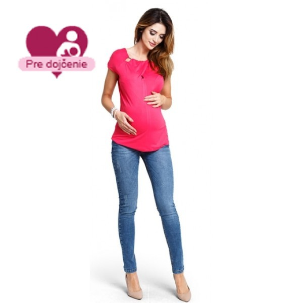Tehotenské tričko Lemonade amaranth - b1171c