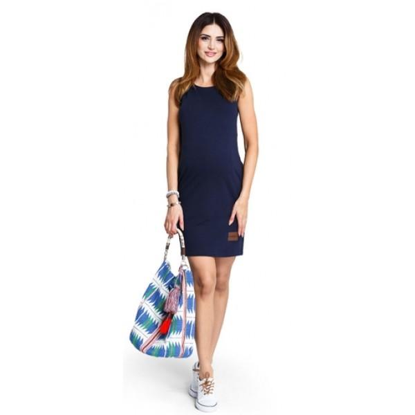 Tehotenské šaty Lemonade navy - d880b