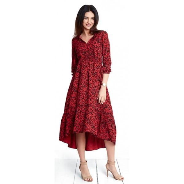 Tehotenské šaty Leopard red dress (d1044a)