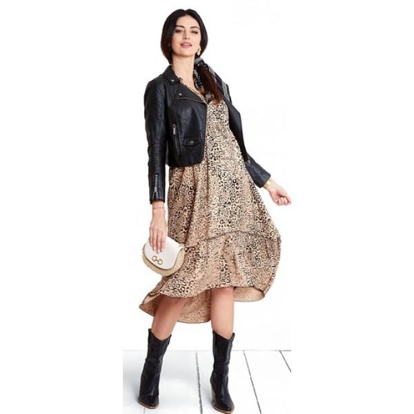Tehotenské šaty Leopard nude dress (d1044b)