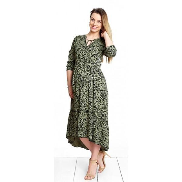 Tehotenské šaty Leopard khaki dress (d1044c)