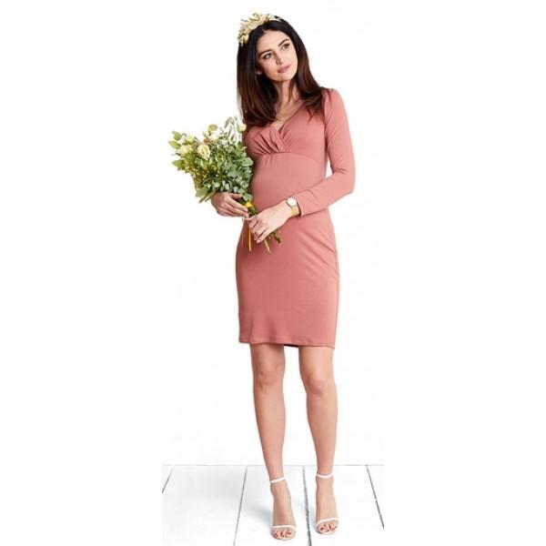Tehotenské šaty Chocolate marsala dress (d1067)
