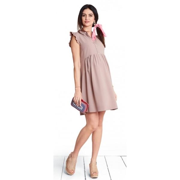 Těhotenské šaty Carmel nude dress (d1087a)