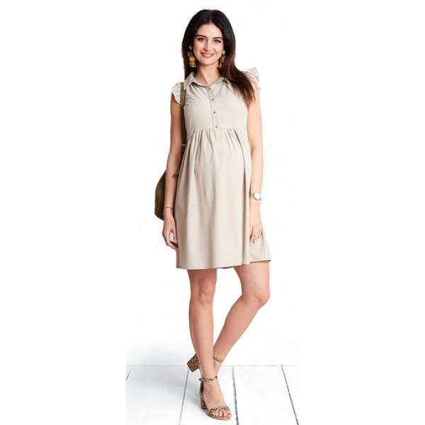 Těhotenské šaty Carmel latte dress (d1087b)