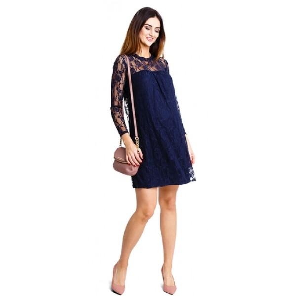 Tehotenské šaty Beauty you dress navy d926