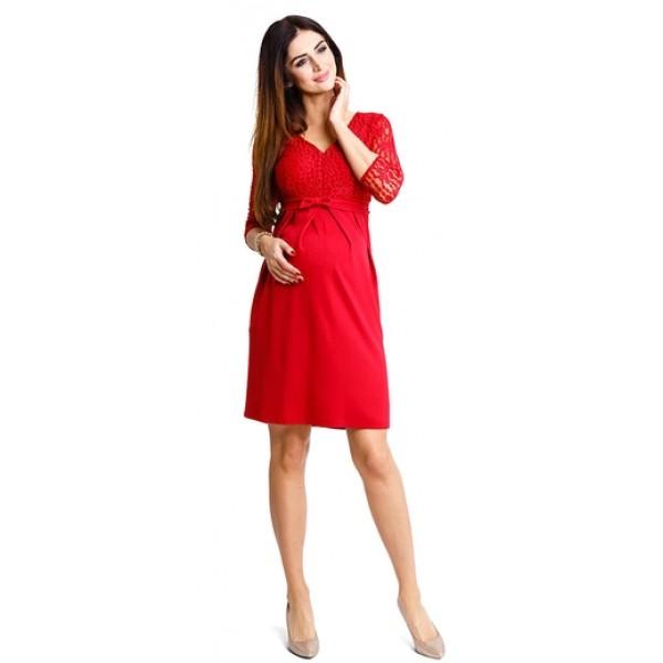 Tehotenské šaty Glam ruby dress d927