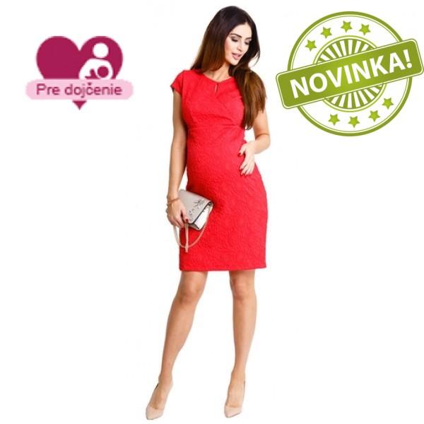 Tehotenské šaty Red hot dress d929