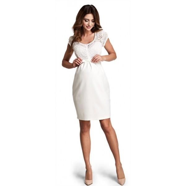 Tehotenské šaty Magic cream dress d760c