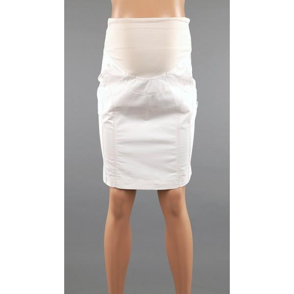Biela bavlnená tehotenská sukňa 3409