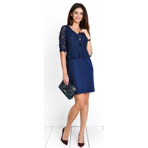 Tehotenské šaty Bella navy dress (d984b)