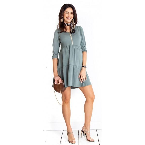 Tehotenské šaty Paris khaki dress (D1018)