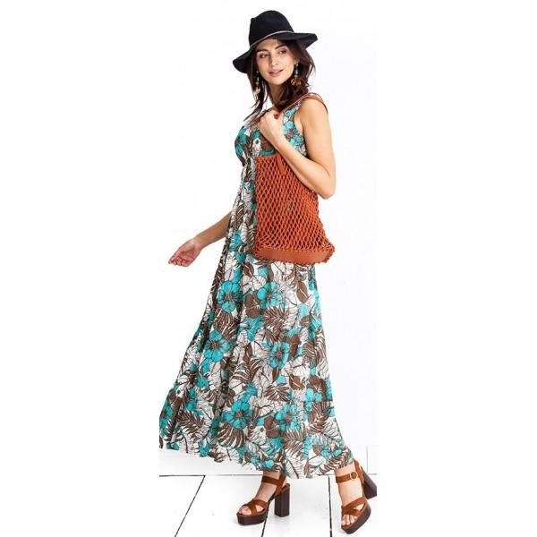 Tehotenské šaty Tropical dress (D1019)