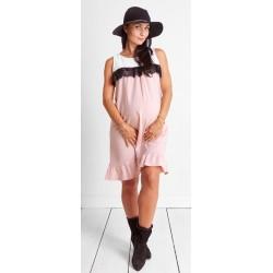 a82daee04f7b Tehotenské šaty Candy floss pudre dress (d9039)