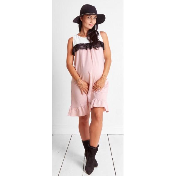Tehotenské šaty Candy floss pudre dress (d9039)