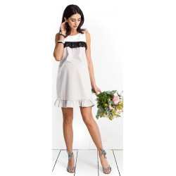 ff86fb80ca52 Tehotenské šaty Candy floss beige dress (D9039a)