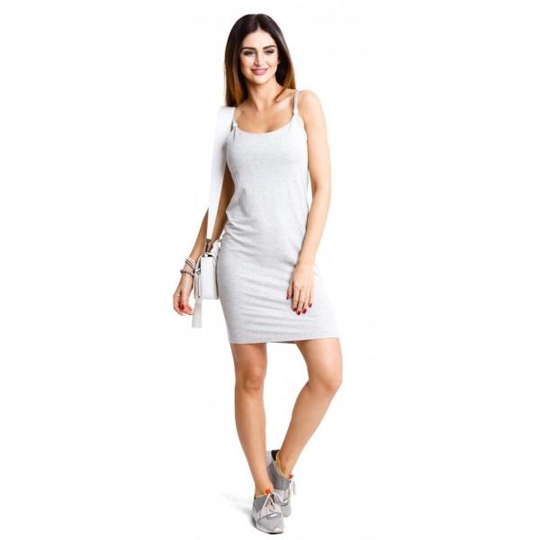 Tehotenské šaty Basic melange dress (d914a)