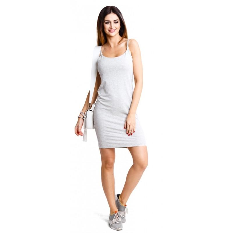 b0a24cd91ca3 Tehotenské šaty Basic melange dress (d914a)
