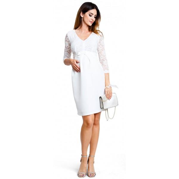 Tehotenské šaty Vogue cream dress (d919b)