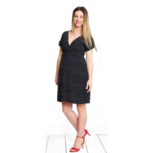 Těhotenské šaty Angel black dress (d1100b)