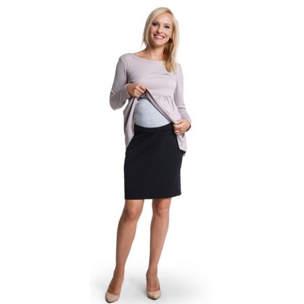 Tehotenská sukňa MUMMY black s263a