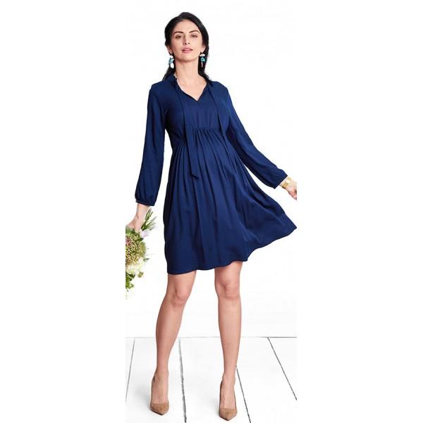 Tehotenské šaty MELISSA navy dress d1119