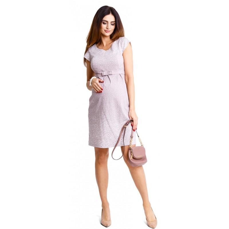 d5581f889c40 Tehotenské šaty Icy moon beige dress d881b