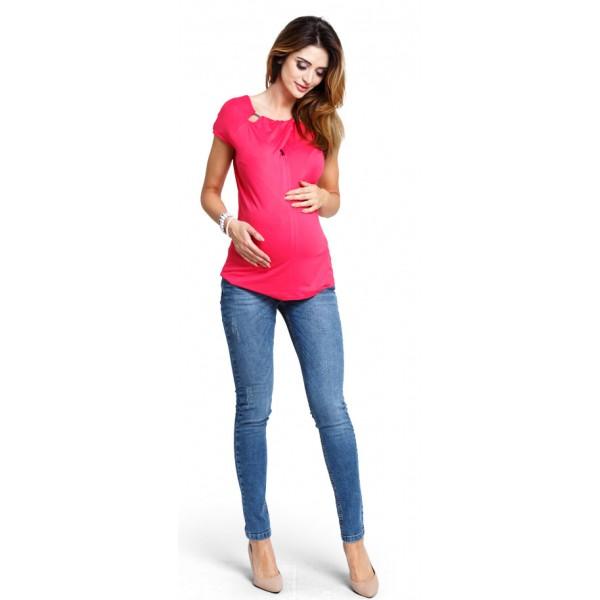 Tehotenské tričko Lemonade amaranth top (b1171c)