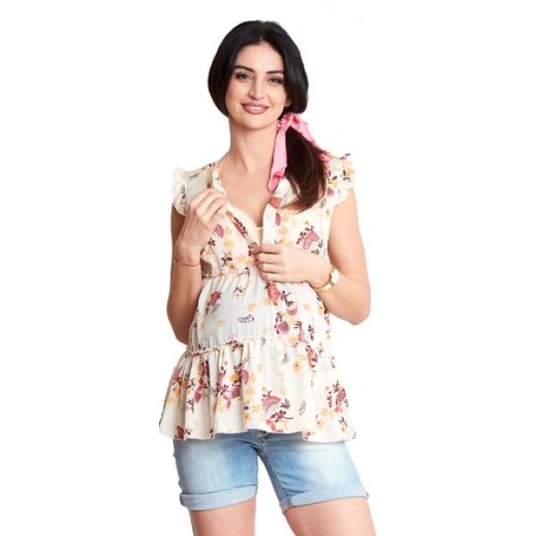 Tehotenská blúzka Cherry shirt (b1276)