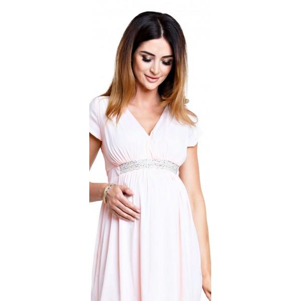 Tehotenské šaty Champagne dress (d895)