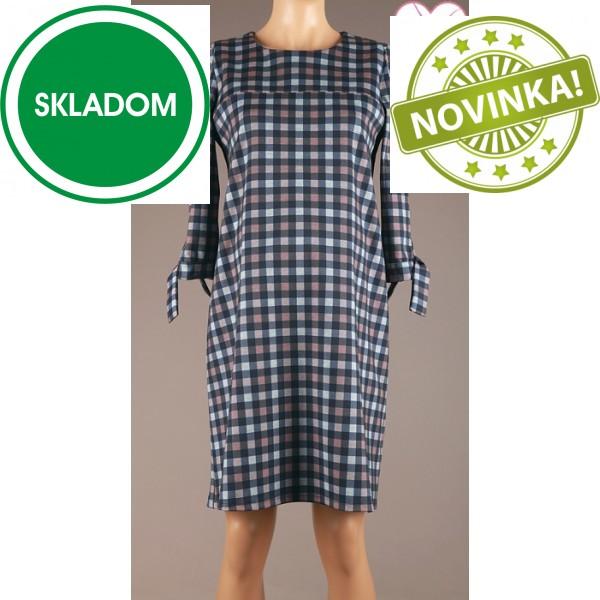 Tehotenské kockované šaty Branco 4557