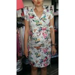 Kvetované tehotenské úpletové šaty BR4346