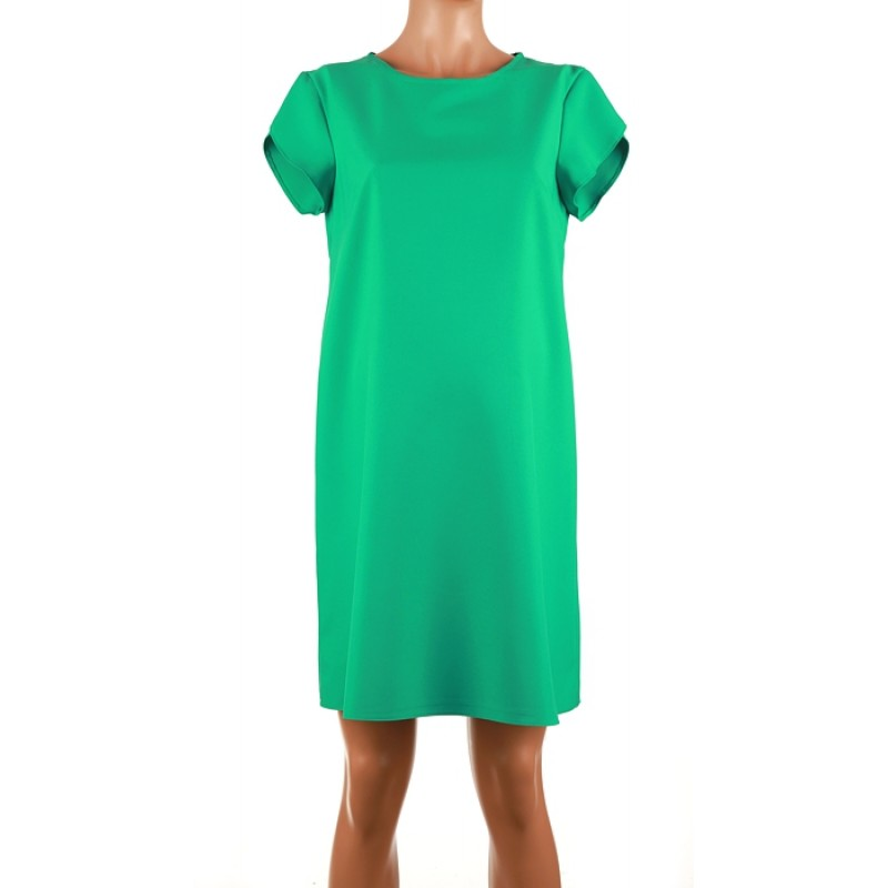Zelené koktejlové šaty s rátkym rukávom Branco 4155 5f87da74f8