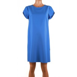 Modré koktejlové šaty s rátkym rukávom Branco 4155 971ea0bf25