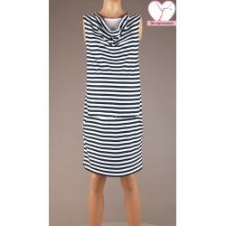 Pruhované tehotenské úpletové šaty BR4354 8ef0157a70