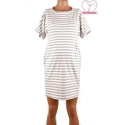 Pruhované tehotenské úpletové šaty BR4360 81285efab0
