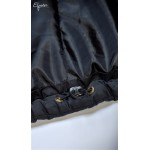 Čierna tehotenská bunda CHANTAL