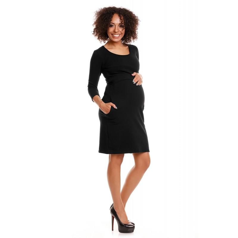 Čierne púzdrové úpletové šaty PKB1445 c484b912a35