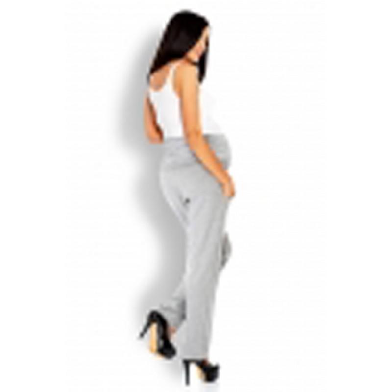 Sivé tehotenské úpletové nohavice PKB1276 d1b30644594