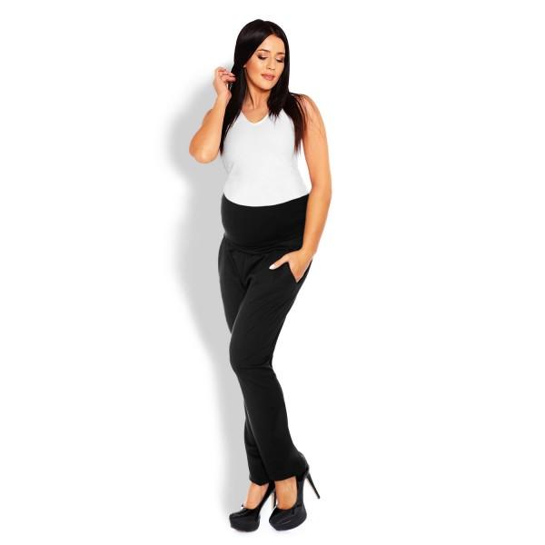 Čierne tehotenské úpletové nohavice PKB1276