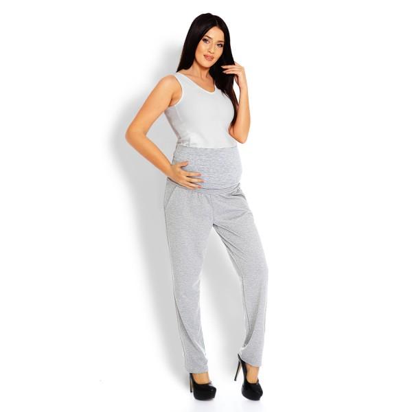 Sivé tehotenské úpletové nohavice PKB1276
