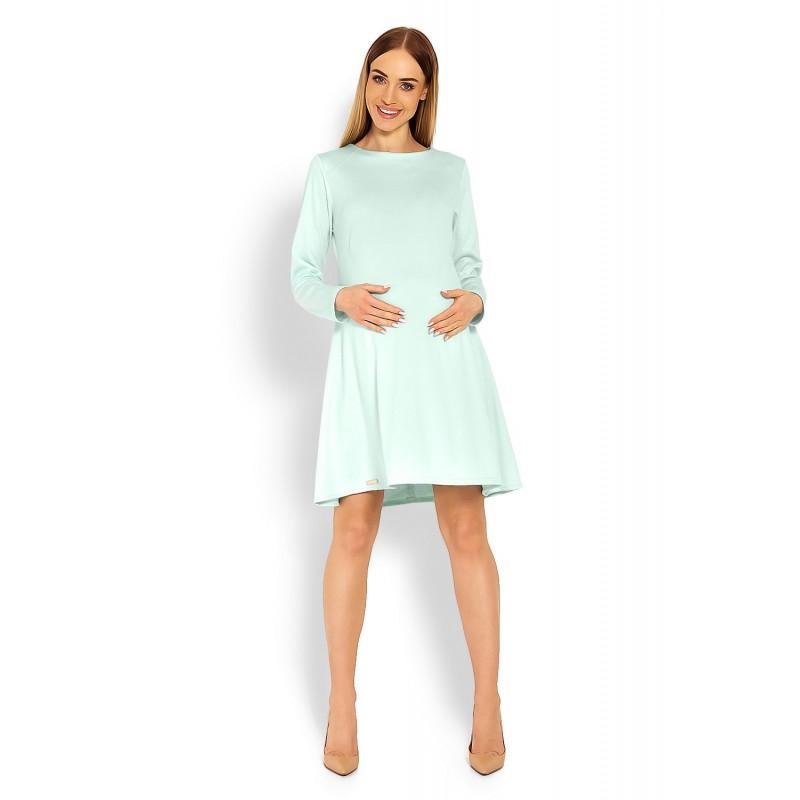d811aaba5555 Mätovozelené tehotenské áčkové šaty PKB1359C