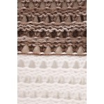 Ažurový dvojfarebný sveter Cappuccino 70002C