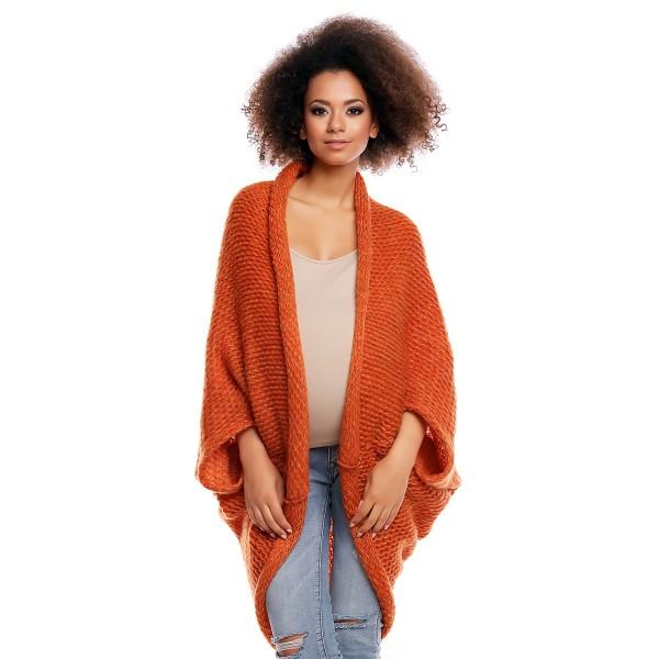 Oranžový mohérový kardigán 30052C